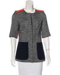 Victoria Beckham - Structured Short Sleeve Jacket Orange - Lyst