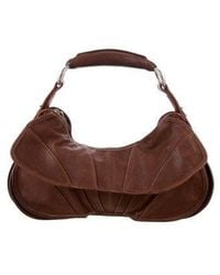 CoSTUME NATIONAL - Leather Handle Bag Brown - Lyst