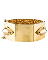 Rachel Zoe - Wide Bangle Gold - Lyst