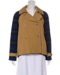 Band of Outsiders - Double-breasted Woven Jacket - Lyst
