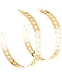 Arme De L'Amour - Square Cut Out Hoop Earrings Gold - Lyst