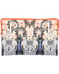 Mary Katrantzou - Printed Zip Puch Orange - Lyst