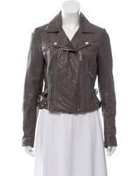 Alice By Temperley - Leather Zip-up Jacket - Lyst