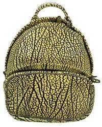 Alexander Wang - Dumbo Leather Backpack Yellow - Lyst