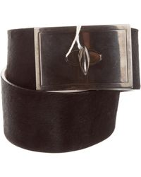 Givenchy - Ponyhair Shark-lock Belt W/ Tags - Lyst