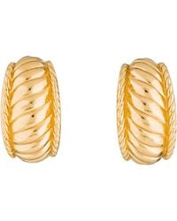 Dior - Vintage Sculpted Earrings Gold - Lyst