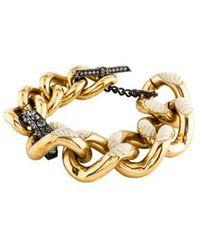 Lanvin - Crystal Link Bracelet - Lyst