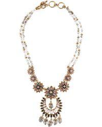 Marchesa - Crystal Drama Necklace Gold - Lyst