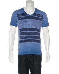 John Galliano - Woven Printed T-shirt - Lyst
