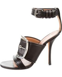 Givenchy - Leather Buckle Sandals - Lyst