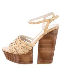 Alice + Olivia - Ulyssa Platform Sandals Tan - Lyst