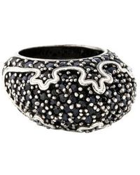 M.c.l  Matthew Campbell Laurenza - Black Sapphire & Enamel Ring Silver - Lyst