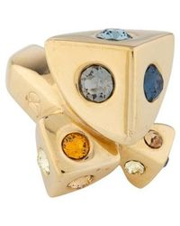 Louis Vuitton - Crystal Studs Ring Gold - Lyst