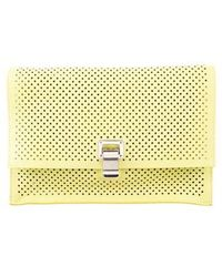 Proenza Schouler - Perforated Lunch Bag Clutch Neon - Lyst