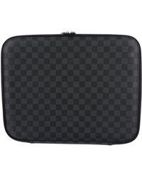 Louis Vuitton - Damier Graphite Laptop Case Black - Lyst