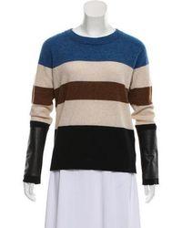 VEDA - Cashmere Striped Sweater Tan - Lyst