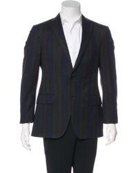 Etro - Striped Wool Blazer Brown - Lyst