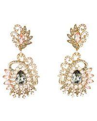 Judith Leiber - Lulu Vintage Chandelier Earrings Gold - Lyst