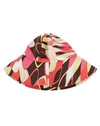 dc19534215f1f Lyst - Emilio Pucci Printed Sun Hat Black in Gray