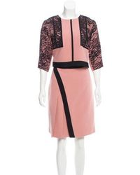 J. Mendel - Lace-accented Silk Skirt Set - Lyst