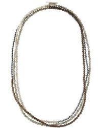 Brunello Cucinelli - Adjustable Beaded Necklace Silver - Lyst