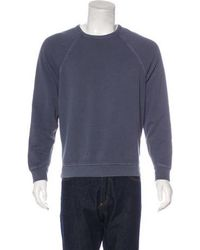 T By Alexander Wang - Crew Neck Sweatshirt Blue - Lyst