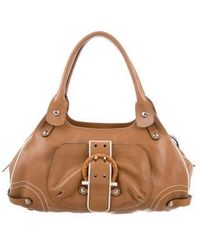 Ferragamo - Gancino-wooden Leather Tote Brown - Lyst d6d4c3368a734