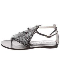 Henry Beguelin - Embellished Woven Sandals W/ Tags - Lyst
