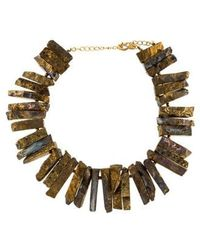 Kenneth Jay Lane - Textured Collar Necklace Gold - Lyst