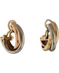 Cartier - Trinity De Earrings Yellow - Lyst
