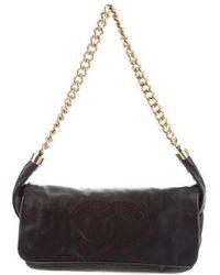 03c2ff8cf449 Lyst - Chanel Classic Small Double Flap Bag Black in Metallic