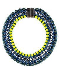 Proenza Schouler - Beaded Collar Necklace Silver - Lyst