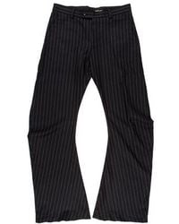 John Galliano - Striped Wool Flared Pants - Lyst