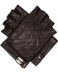 Chanel - 2015 Quilted Fingerless Gloves W/ Tags Black - Lyst