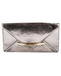 Z Spoke by Zac Posen - Leather Envelop Clutch Gold - Lyst