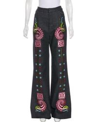 Holly Fulton - 2016 High-rise Embroidered Jeans - Lyst