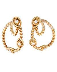 Dior - Diamond Rope Loop Earrings Yellow - Lyst