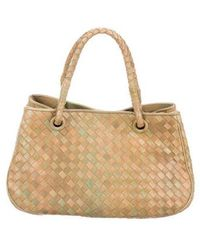 0b643a243ff8 Lyst - Bottega Veneta Tiina Top Handle Bag Neutrals in Natural