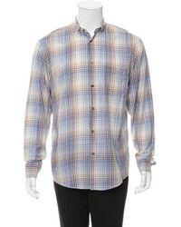 Dior Homme - Checkered Button-up Shirt Blue - Lyst
