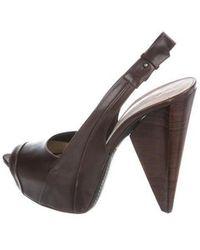 CoSTUME NATIONAL - Platform Slingback Sandals - Lyst
