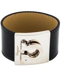 Ferragamo - Wide Gancio Bracelet Silver - Lyst