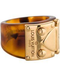 Louis Vuitton - Lock Me Ring Gold - Lyst