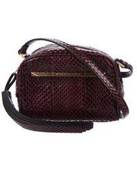 B Brian Atwood - Barbara Python Crossbody Bag Purple - Lyst