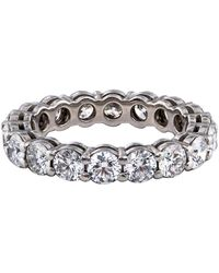 Tiffany & Co. - Platinum Diamond Embrace Band - Lyst