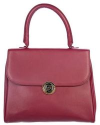 Ports 1961 - Leather Flap Handle Bag Red - Lyst