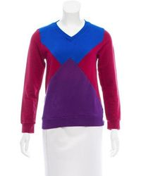 Ostwald Helgason - Colorblock V-neck Sweatshirt Multicolor - Lyst