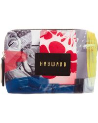 Hayward - Leather-trimmed Printed Pouch Blue - Lyst