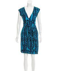 Tory Burch - Silk Wrap Dress - Lyst