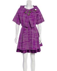 Vera Wang Lavender - Sequin-accented Pleated Dress - Lyst