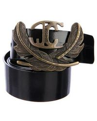 Just Cavalli - Leather Buckle Belt - Lyst